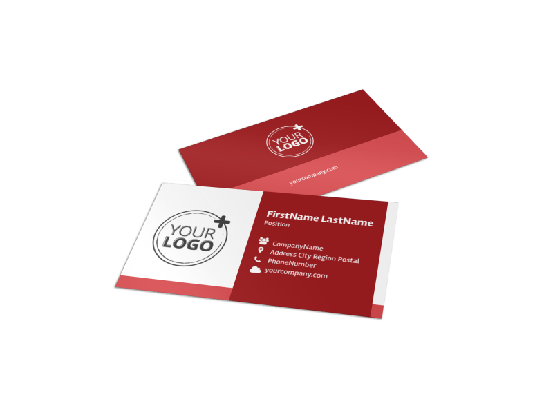Blood Drive Business Card Template Preview 1
