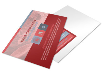 Blood Drive Postcard Template preview
