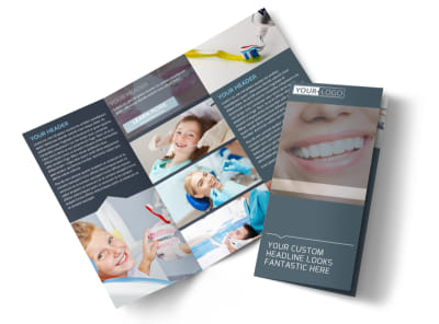 Quality Dentist Tri-Fold Brochure Template preview