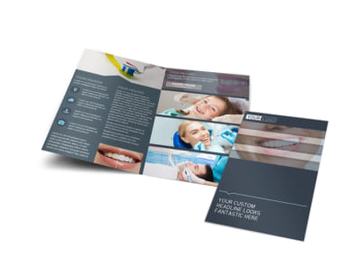 Quality Dentist Bi-Fold Brochure Template preview