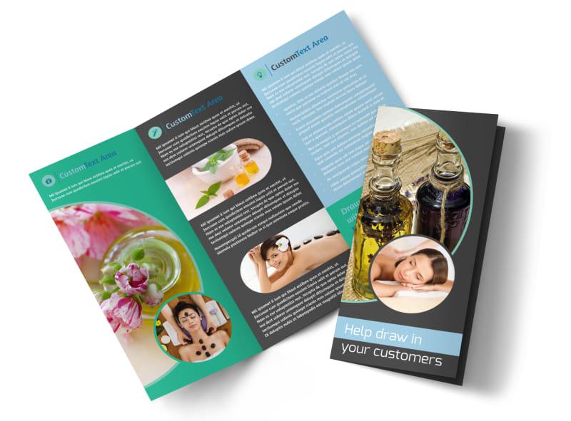 Aromatherapy Service Tri-Fold Brochure Template