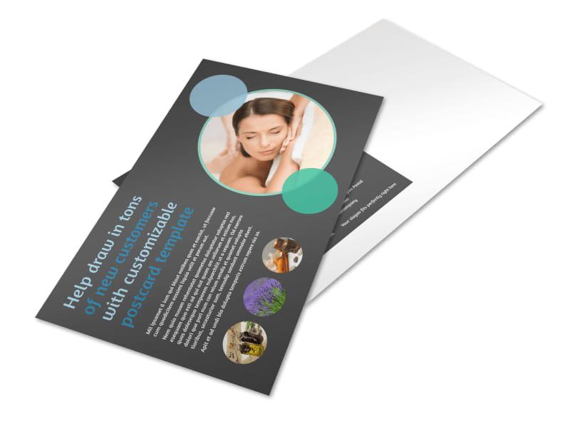 Aromatherapy Service Postcard Template