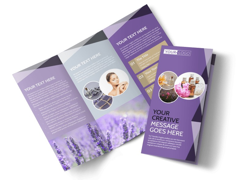 Essential Oils Tri-Fold Brochure Template