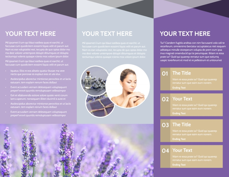 Essential Oils Brochure Template Preview 3