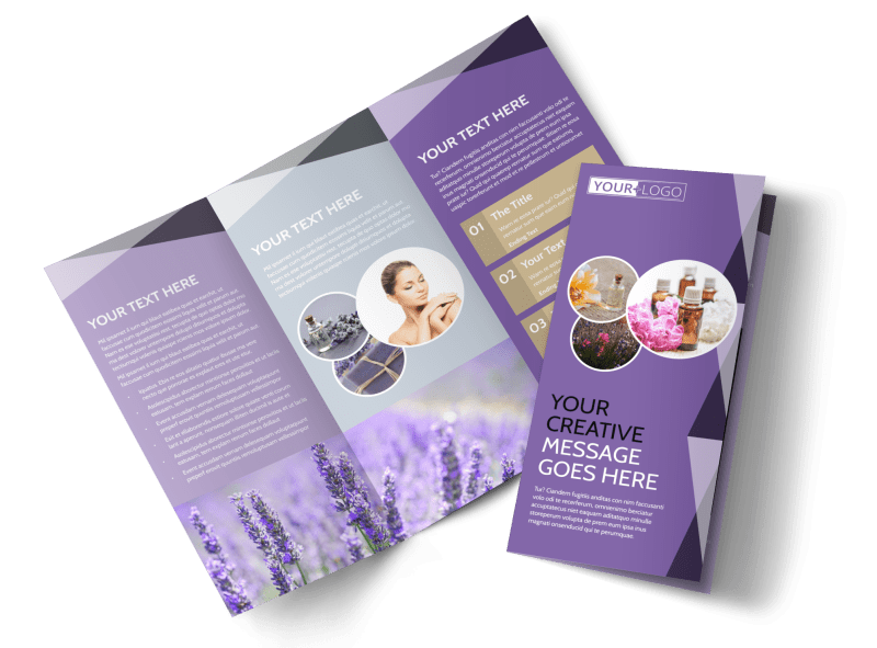 Essential Oils Brochure Template Preview 1