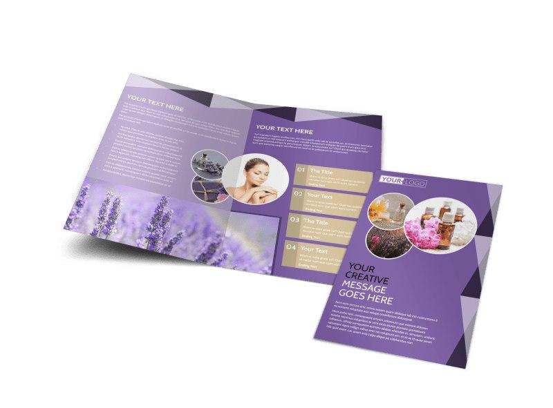 Essential Oils Bi-Fold Brochure Template