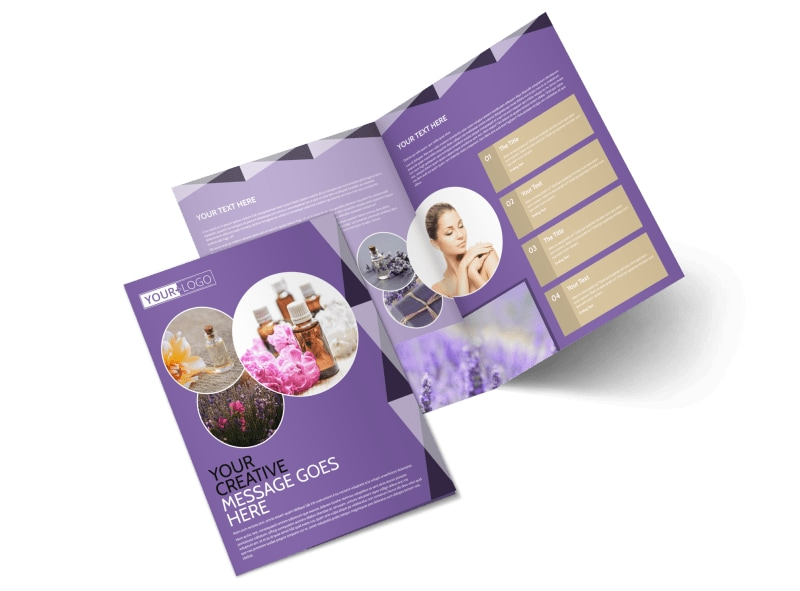 Essential Oils Bi-Fold Brochure Template