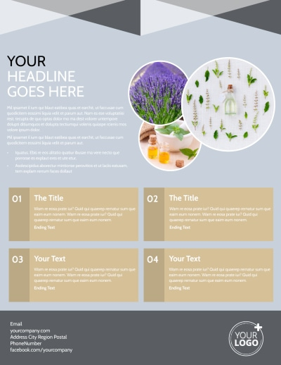 Essential Oils Flyer Template Preview 2