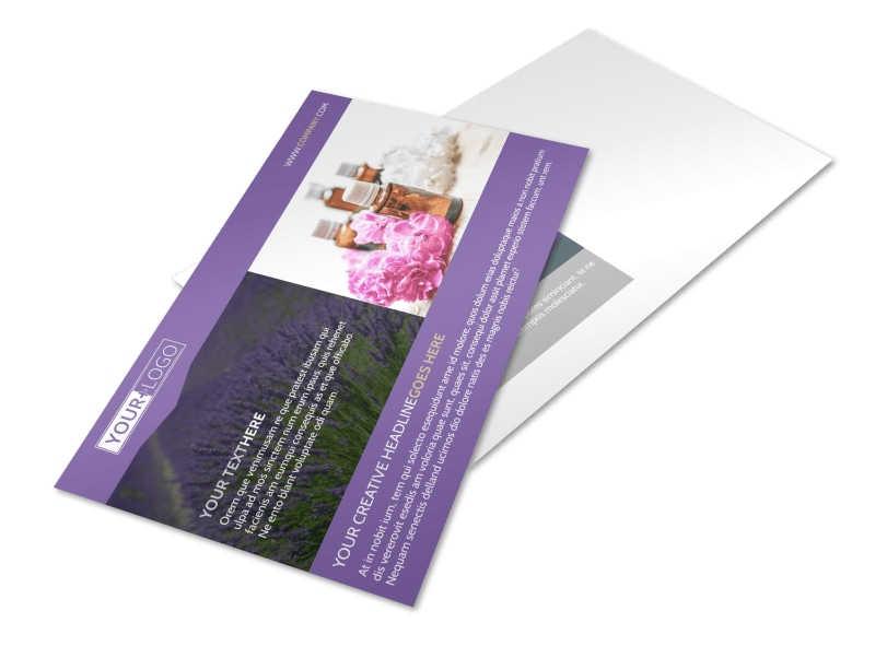 Essential Oils Postcard Template