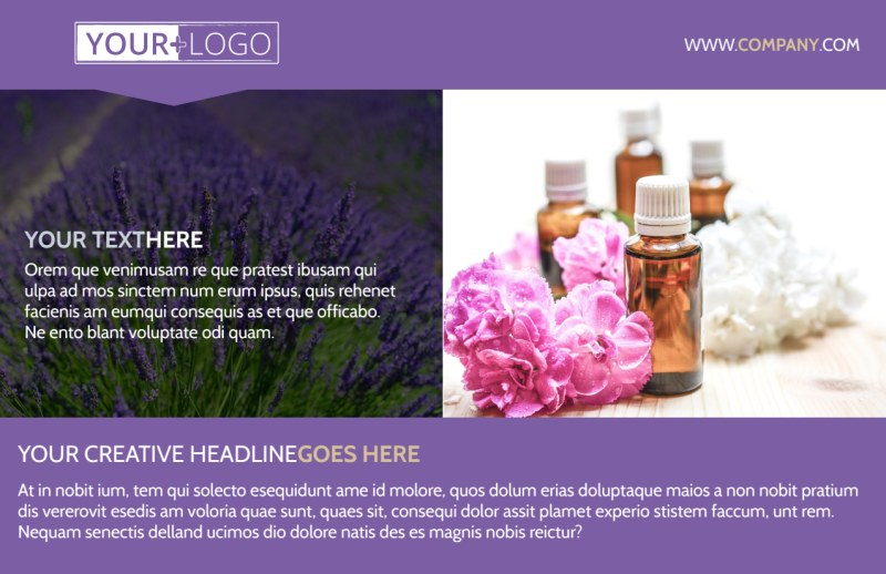 Essential Oils Postcard Template Preview 2