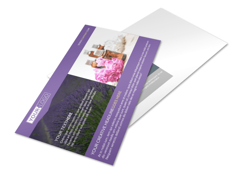 Essential Oils Postcard Template Preview 1