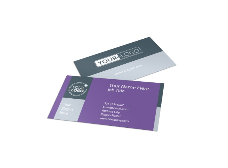 Essential Oils Business Card Template Preview 4