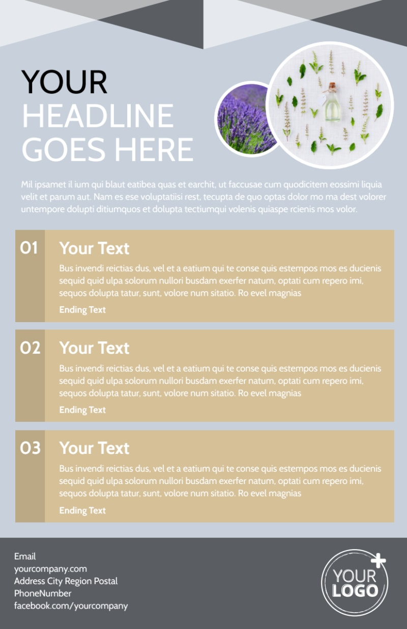 Essential Oils Flyer Template Preview 3