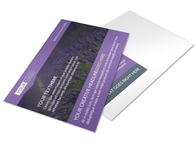 Essential Oils Postcard Template
