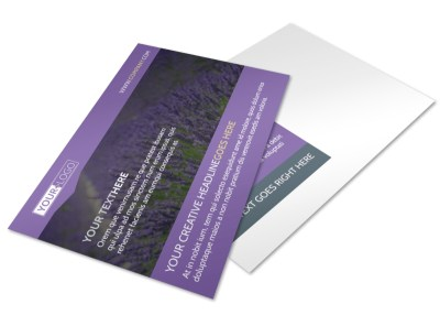 Essential Oils Postcard Template preview