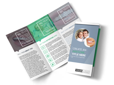 Family Dental Practice Tri-Fold Brochure Template preview