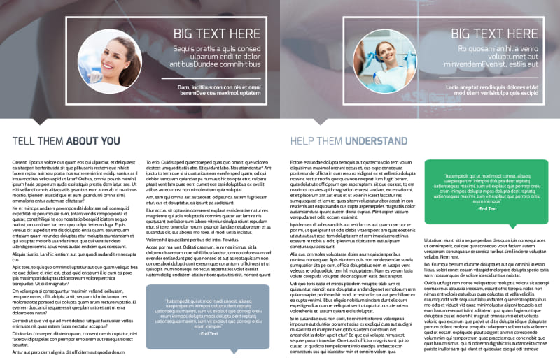 Family Dental Practice Brochure Template Preview 3
