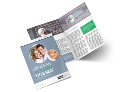Family Dental Practice Bi-Fold Brochure Template preview