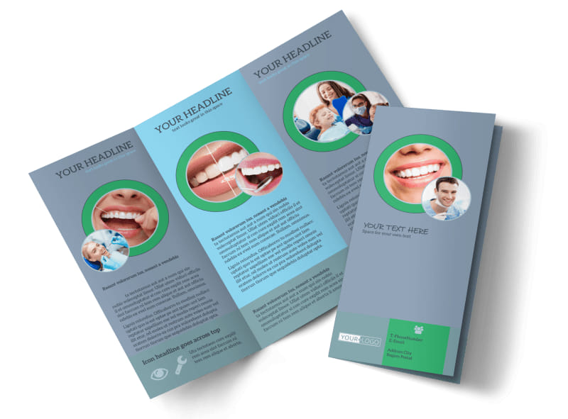 Friendly Smiles Dentistry Tri-Fold Brochure Template