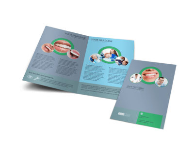 Friendly Smiles Dentistry Bi-Fold Brochure Template preview