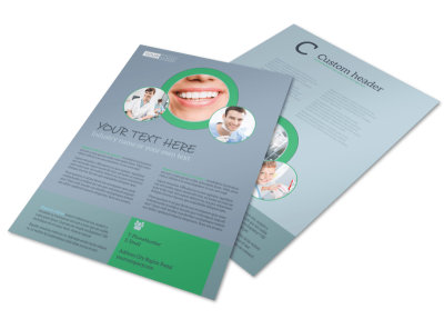 Friendly Smiles Dentistry Flyer Template preview