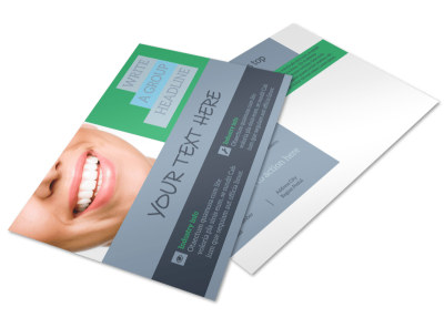Friendly Smiles Dentistry Postcard Template preview
