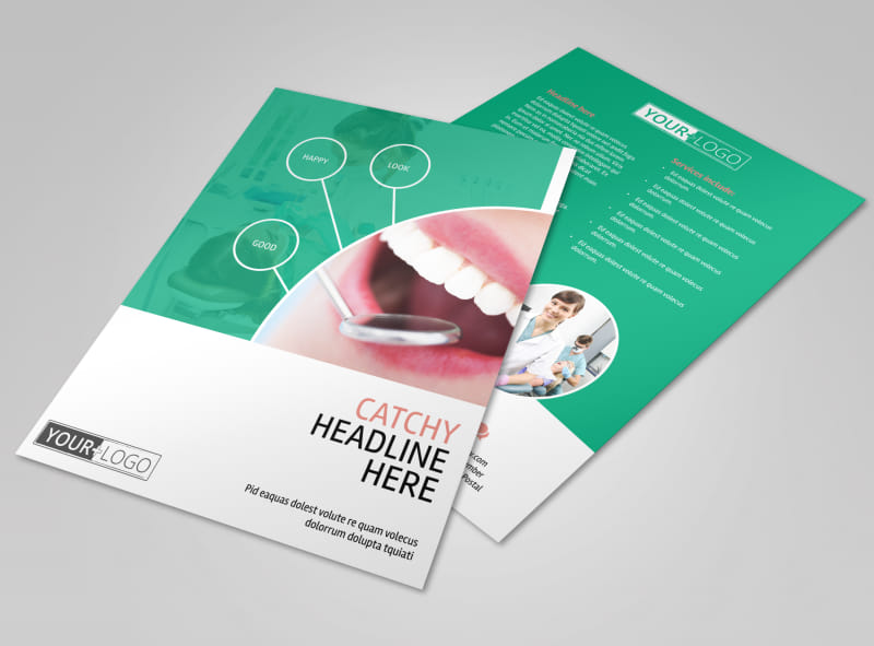 Premier Dental Clinic Flyer Template  Mycreativeshop