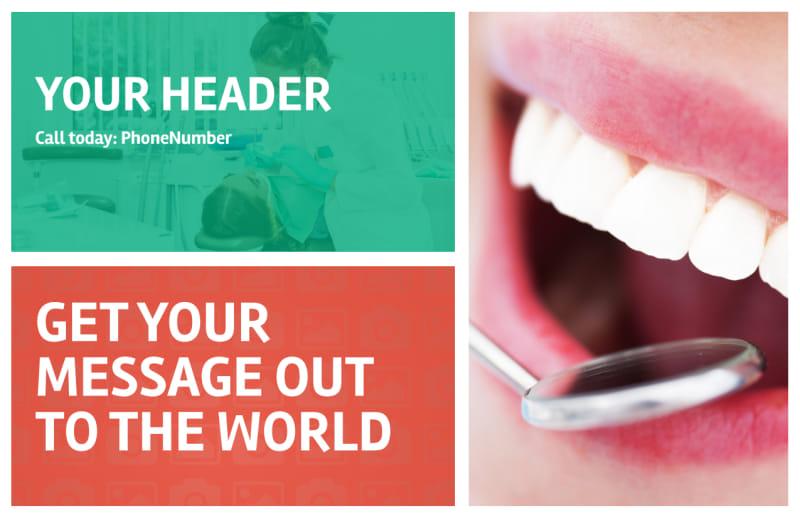 Premier Dental Clinic Postcard Template Preview 2