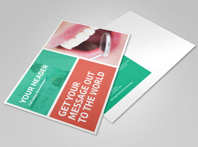 Premier Dental Clinic Postcard Template preview