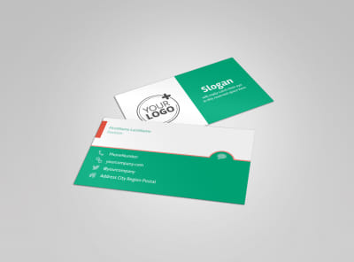 Premier Dental Clinic Business Card Template preview