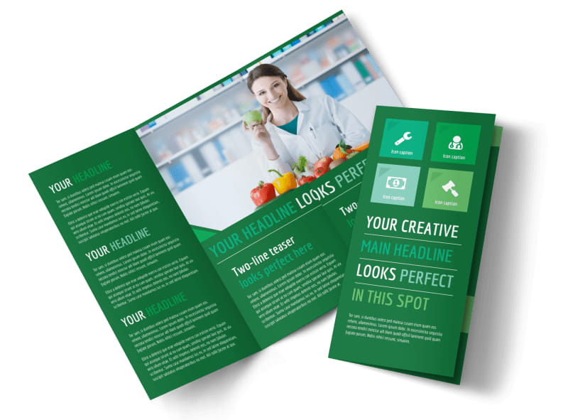 Healthy Diet Specialists Tri-Fold Brochure Template