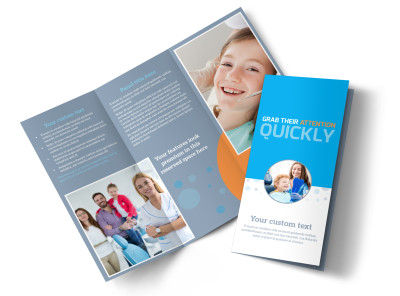 Pediatric Dental Care Tri-Fold Brochure Template preview