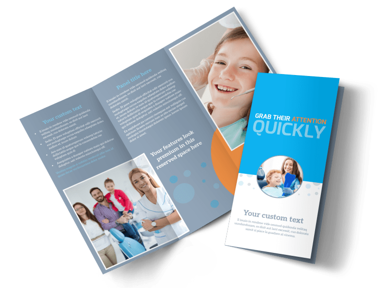 Pediatric Dental Care Brochure Template Preview 1