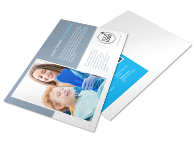 Pediatric Dental Care Postcard Template preview