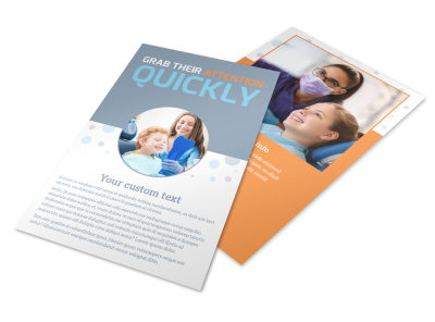 Pediatric Dental Care Flyer Template preview