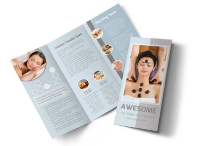 Asian Health Massage Tri-Fold Brochure Template preview