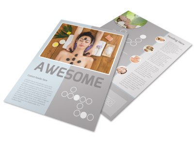 Asian Health Massage Flyer Template preview
