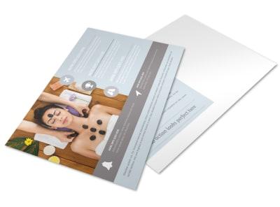 Asian Health Massage Postcard Template preview