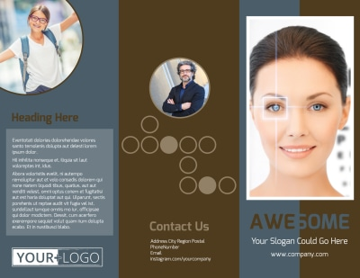 Vision Center Eye Doctor Brochure Template Preview 1