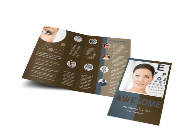 Vision Center Eye Doctor Bi-Fold Brochure Template
