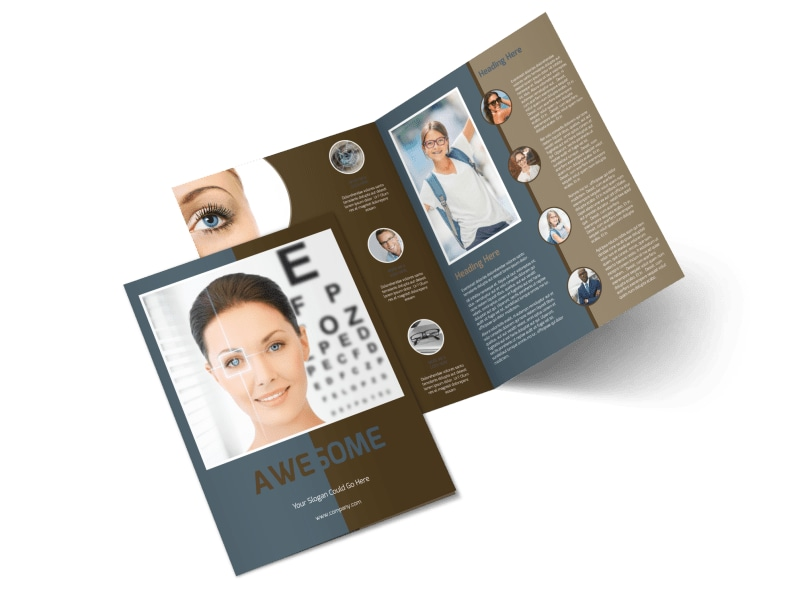 Vision Center Eye Doctor Bi-Fold Brochure Template