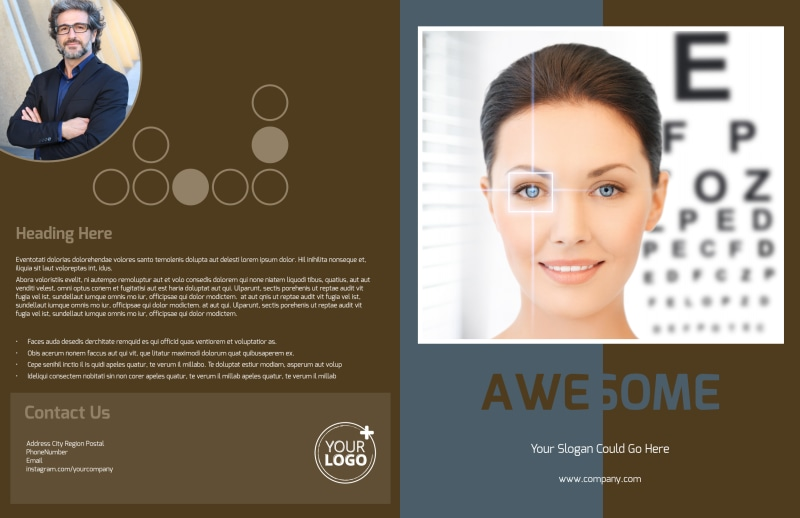 Vision Center Eye Doctor Brochure Template Preview 2