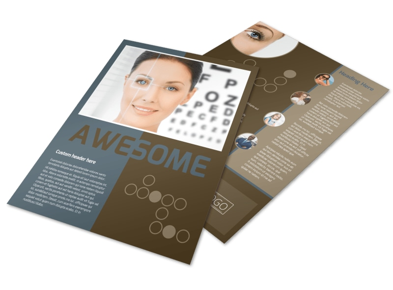 Vision Center Eye Doctor Flyer Template