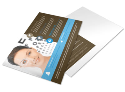 Vision Center Eye Doctor Postcard Template preview
