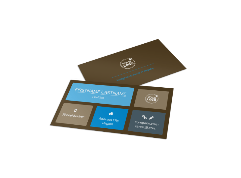 Vision Center Eye Doctor Business Card Template Preview 1