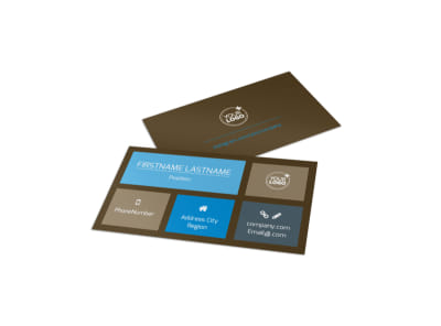 Vision Center Eye Doctor Business Card Template preview