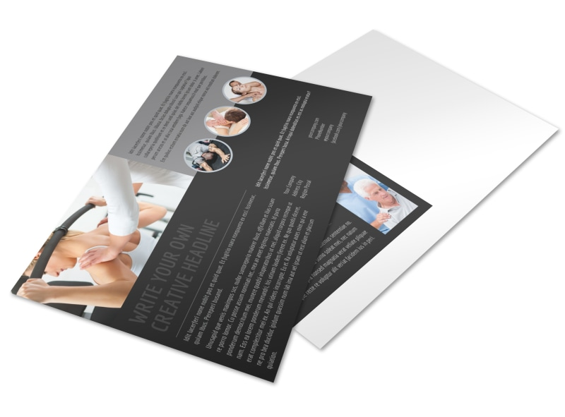 Physical Therapy & Rehab Postcard Template