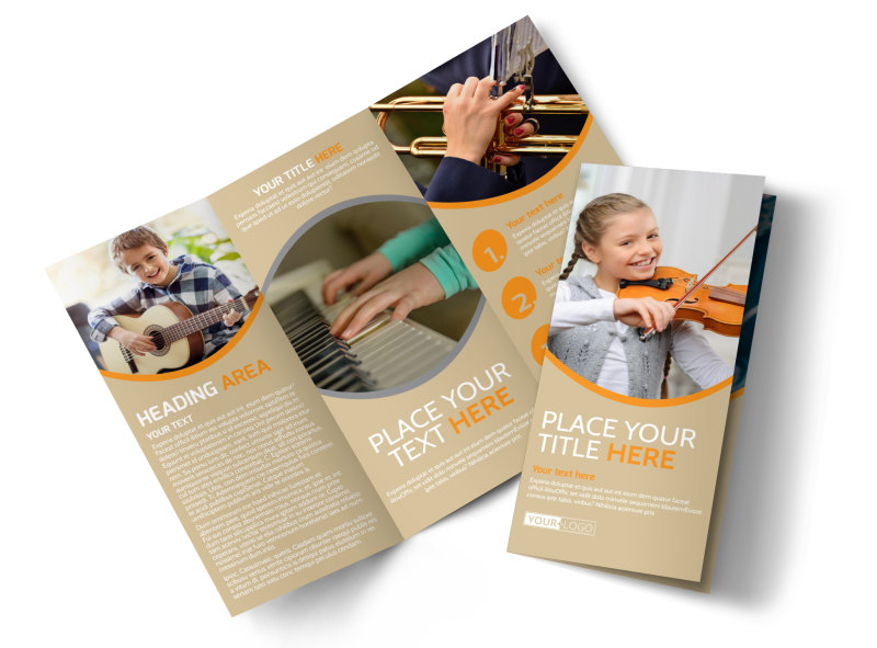 Just Beginning Music Lessons Tri-Fold Brochure Template