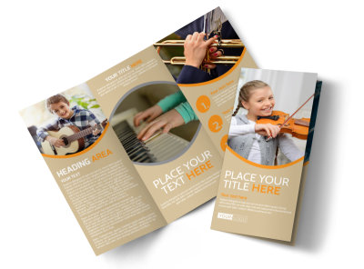 Just Beginning Music Lessons Tri-Fold Brochure Template preview