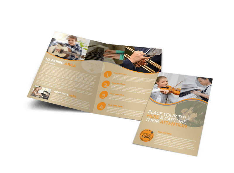 Just Beginning Music Lessons Bi-Fold Brochure Template